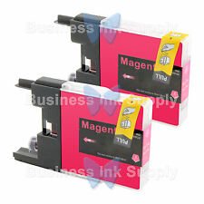 2 MAGENTA LC71 LC75 Compatible Ink Cartirdge for BROTHER Printer MFC-J435W LC75M