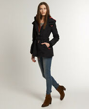 Superdry Womens Wind Mac Jacket Coat (M) Size Medium Black - NEW