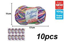 10 x Knitting Yarn 8 Ply 100g Multi Colour Candy Shop 100% Brand New (WIN-127)
