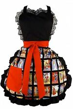 Hemet Marcadas Apron Day of the Dead cartoon kitsch Día de Muertos