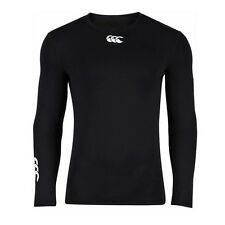 Canterbury Baselayer Cold Mens Long Sleeve Winter Top BNWT SIZE S - Black