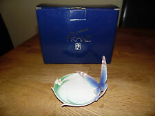 FRANZ BLUE BUTTERFLY PIN TRAY BOXED