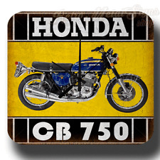HONDA CB 750 MOTORCYCLE METAL TIN SIGN VINTAGE WALL CLOCK GARAGE WORKSHOP