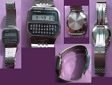 RARE // VINTAGE MONTRE CALCULATRICE ALBA Y739 SEIKO CALCULATOR ALARM // Fonct OK