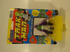 TRAK MAN WIND UP W/ 12 SLOT TRACK SECTIONS STAR FIGURE IN CAR GEOMETRIC SHAPES