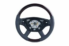 2007 - 2013 for Mercedes W221 S Class Steering Wheel Walnut Wood Black Leather
