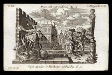 santino incisione 1700 S.MARGHERITA DI ANTIOCHIA V.M.  klauber