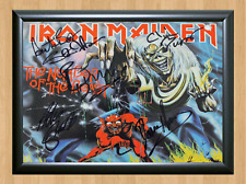 Iron Maiden band Signed Autographed A4 Photo Print Poster Memorabilia ticket