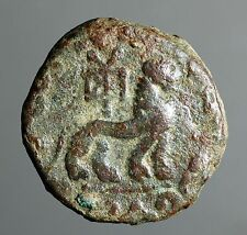 IG13-12  Indo-Scythians, Azes. Circa 58-12 BC.  Copper Full Unit, Senior 102.140