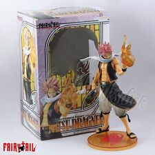 "Fairy Tail Natsu Dragneel With Flame 25cm/10"" 1/7 Scale Painted Figure In Box"