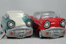 NEW Hot Rod Cars Salt & Pepper Shakers Red & Teal-By Giftcraft #485052 NIB!