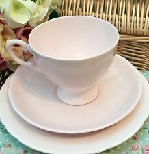 TUSCAN 1940s FINE BONE CHINA TRIO CUP SAUCER PLATE SET - PALE PASTEL BABY PINK