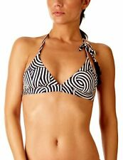 Princesse Tam Tam Hypnotik Triangle Bikini Top - White/Navy EU 34 UK 6
