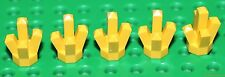 Lego Yellow Rock 1x1 Crystal 5 point 5 pieces NEW!