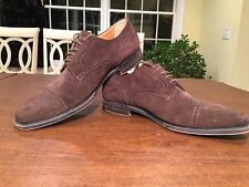 Mens HERMES Brown Suede Blucher Derby Oxfords Dress Shoes Size 9 Made in Italy