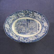 Staffordshire China LIBERTY BLUE Oval Serving Bowl (s)