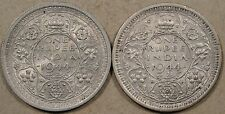 British India 1944-L Rupees Large + Small L Better Circulated Grade Coins