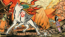 Okami - Wall Poster - Beautiful - Huge  - 22 in x 34 in - Fast shipping  101