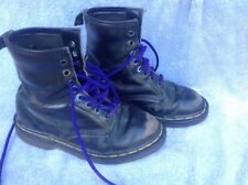 Dr Martins Black Leather Womens Boots Size 5