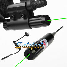 *Combo Green Laser  .22 to .50 Boresighter Clip Mount W/ Remote Switch 4 Hunting