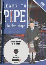 Learn to BAGPIPE in twelve steps by Ian Jess INCLUDING SCOTTISH PRACTICE CHANTER