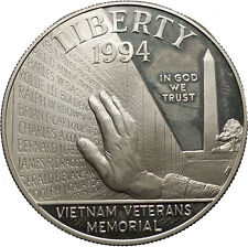 1994 Vietnam Veterans Memorial Washingon DC Medals USA Silver Dollar Coin i43638
