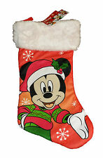 "DISNEY MICKEY MOUSE CELEBRATES CHRISTMAS STOCKING~18"" LONG~NEW"
