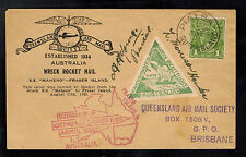 1935 SS Maheno Wreck to Fraser Island Australia Rocket Mail Society Cover