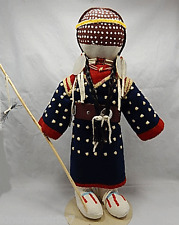 "CROW - Indian HUGE beaded 18""  FEMALE doll - MARY LOU BIG DAY"