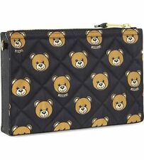 Moschino Couture X Jeremy Scott BEAR PRINT QUILTED CLUTCH BAG SS15 READY 2 BEAR