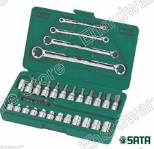"SATA 35pc 1/4"" & 3/8""DR E-Torx Bits Socket & Wrench Set (09010)"