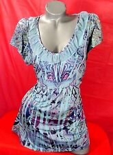 1X✿Paisley✿Work✿Babydoll✿Top✿Goth✿Plus~Size✿Retro~Chic✿Rockabilly+Torrid~Bow