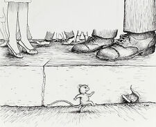 GARTH WILLIAMS~ORIGINAL PUBLISHED PEN& INK DRAWING~HARRY KITTEN AND TUCKER MOUSE