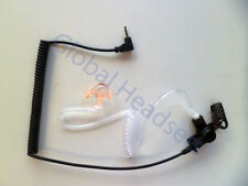 Clear Acoustic Coil Tube with Ear Mold 3.5mm Listen Only Ear Piece