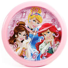"DISNEY PRINCESS DECORATIVE KIDS ROOM 10"" ROUND WALL CLOCK PINK GIFT WATCH NEW"