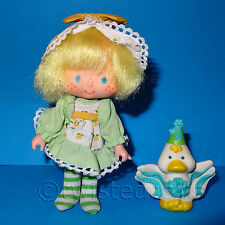 VINTAGE 1984 80s KENNER STRAWBERRY SHORTCAKE MINT TULIP PARTY PLEASER DOLL + PET