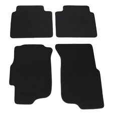 4 Pieces Black Trim Front Rear Nylon Carpets Floor Mats For 96-00 Honda Civic