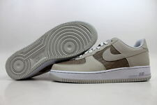 NEW NIKE CLASSIC AIR FORCE 1 SHOES LIGHT ASH GREY/WHITE MENS SZ 12 488298 055