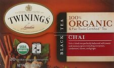 Organic Chai Tea, TWININGS TEA, 20 tea bag 1 pack