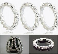 000 - Cosmetic Jewellery Set of 3 Diamante Stretch Rings for Fingers & Toes