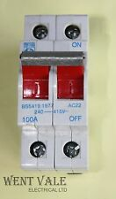 PROTEUS 100s2 - 100A DOUBLE POLE AC22 switch disconnector USATO