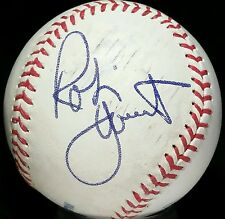 ROBIN YOUNT Single Signed BASEBALL hof auto Milwaukee Brewers Team 3000 Hit