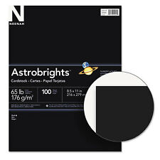 Neenah Paper Astrobrights Colored Card Stock 65 lb. 8-1/2 x 11 Eclipse Black 100