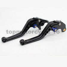 CNC Black Short Brake Clutch Levers Set For XT600 E YAMAHA 1990 - 2002 Aluminum
