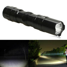 3W Police LED Flashlight Light Lamp With Clip Clamp Super Bright Electric Torch