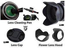 FP87u Lens Hood + Lens Cap + Lens Pen for Panasonic DMC FZ70 DMC FZ72 Camera