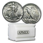 90% Silver Walking Liberty Halves - $10 Face Value Roll - Random Years - AU