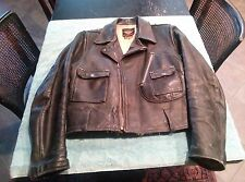 Vintage Harley Davidson Horsehide leather motorcycle jacket. Cycle Champ