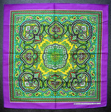 Paisley Style BANDANNA Head Scarf Handkerchief Purple Multi Coloured Neck Scarf