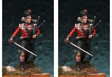Art Girona Napoleonic Scottish Piper 42nd Black Watch 1809 54mm Unpainted Kit